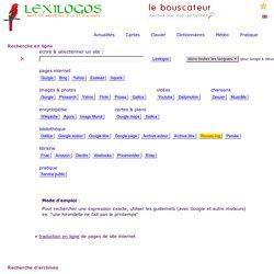 BOUSCATEUR - Recherche sur internet : sites, images, photos, textes, livres en ligne