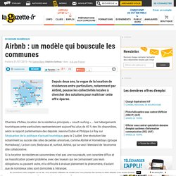Airbnb : un modèle qui bouscule les communes