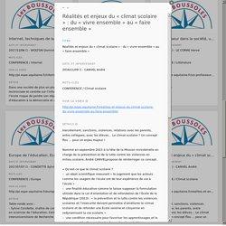 Conf André Canvel - Harcèlement