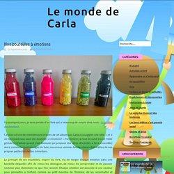 Nos bouteilles à émotions - Le monde de Carla