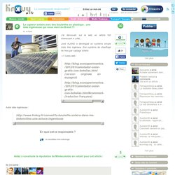Le capteur solaire avec des bouteilles en plastique : une idée ingénieuse qui nous vient du Brésil !!!
