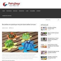 Bouteilles en plastique recyclé dans belles tortues / BeeVar.com