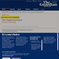 The change from below | Guardian daily comment | Guardian Unlimited