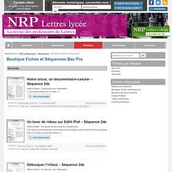 Boutique Fiches et Séquences - NRP Lycée