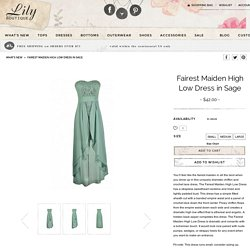 Lily Boutique Sage Lace Dress, Sage Green High Low Dress, Sage Semi-formal Dress, Cute Sage Dress, Sage Strapless Dress, Green Party Dress Lily Boutique