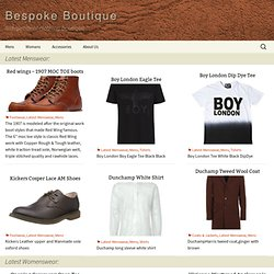 bespoke boutique | men's and women's clothing | fashion online