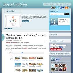 Google propose un site et une boutique pour ses doodles