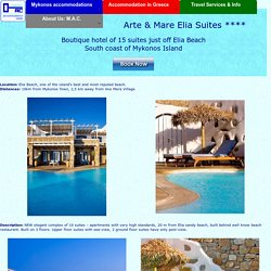 Arte e Mare small boutique Hotel on Mykonos island: Elia Suites