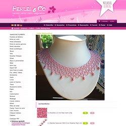 Schema Collier Netting Rose à découvrir gratuitement sur perlesandco.co