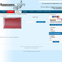 Boutique Renaissance-models - Cuir rouge