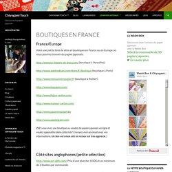 Boutiques en France