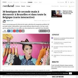 30 boutiques de seconde main à découvrir à Bruxelles et dans toute la Belgique (carte interactive) - Shopping - Mode