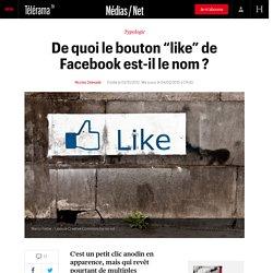 """De quoi le bouton """"like"""" de Facebook est-il le nom ?"""