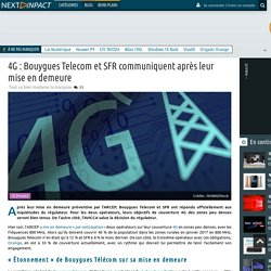 4G : Bouygues Telecom et SFR communiquent après leur mise en demeure