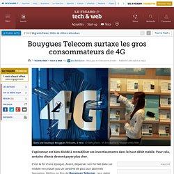 Bouygues Telecom surtaxe les gros consommateurs de 4G (janvier 2016)