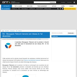5G : Bouygues Telecom lancera son réseau le 1er décembre