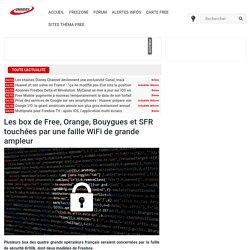 Les box de Free, Orange, Bouygues et SFR touchées par une faille WiFi de grande ampleur