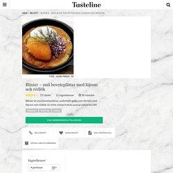 Blinier - små boveteplättar med löjrom och rödlök - Recept - Tasteline.com