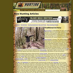 Bow Hunting Articles