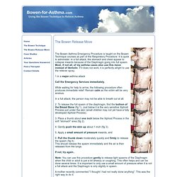 Bowen for Asthma - Using The Bowen Technique to Relieve Asthma