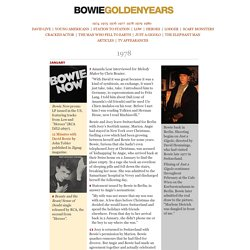 Bowie Golden Years : 1978