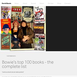 Bowie's top 100 books - the complete list