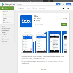 Box - Apps on Google Play