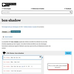 -moz-box-shadow - MDC