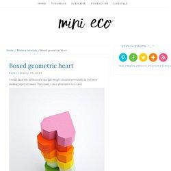 Boxed geometric heart