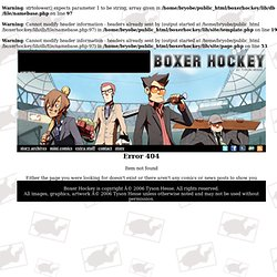 Boxer Hockey: Every Wednesday and Sunday