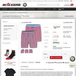 "LUCA DAVID PREMIUM Boxershorts Doppelpack ""Karos"" - jetzt bei BOXXERS.de bestellen!"