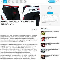 Boxing Apparel- A trip down the memory lane - Alux.com