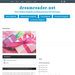 Boxing Day - DreamreaderDreamreader