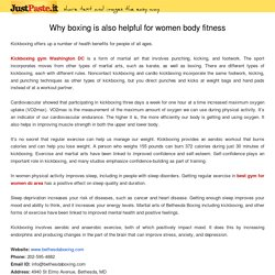 Why boxing is also helpful for women body fitness