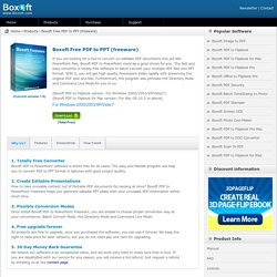 Boxoft Free PDF to PPT (freeware) - freeware for converting PDF to PPT - Boxoft.com