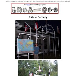 Boy Scout Camp Gateway out of PVC pipe