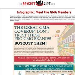 Boycott These Pro-GMO Brands - Infographic