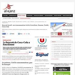 Boycott Israël : un consommateur écrit à Carrefour, Danone, Nestlé, Coca-Cola
