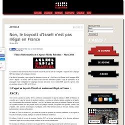 Non, le boycott d'Israël n'est pas illégal en France