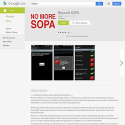Boycott SOPA - GoogleApps sur l'AndroidMarket