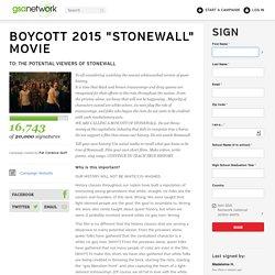 """BOYCOTT 2015 """"STONEWALL"""" MOVIE"""