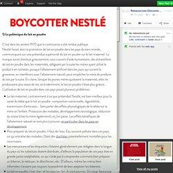 Boycotter Nestlé