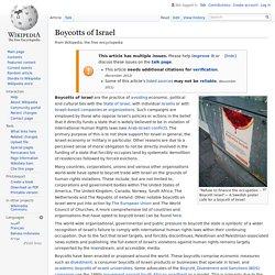 Boycotts of Israel (wikipedia)