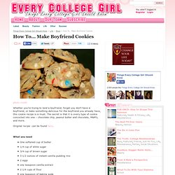 Make Boyfriend Cookies