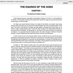 the equinox of the gods aleister crowley pdf