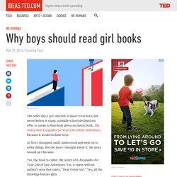 Why boys should read girl books