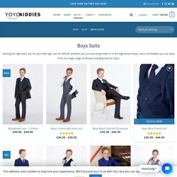 Boys Suits - Formal Kids Suits - For Boys Of All Ages 5-15 - YoYoKiddies