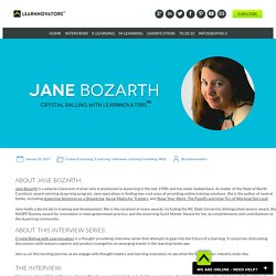 JANE BOZARTH - CRYSTAL BALLING WITH LEARNNOVATORS - Learnnovators