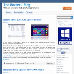 The Bozteck Blog « VNCScan Enterprise Network Manager (VENM) The Bozteck Blog