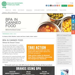 BPA in Canned Food